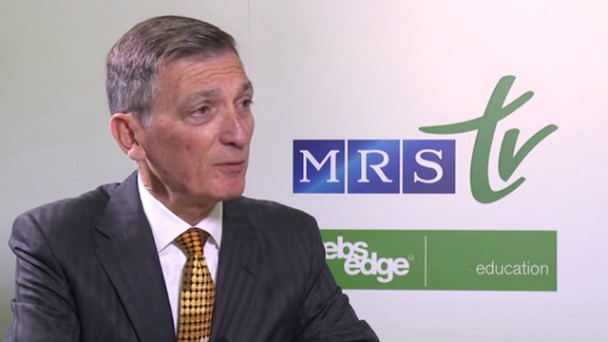 Donald R. Sadoway, PhD Interview - 2014 MRS Fall Meeting