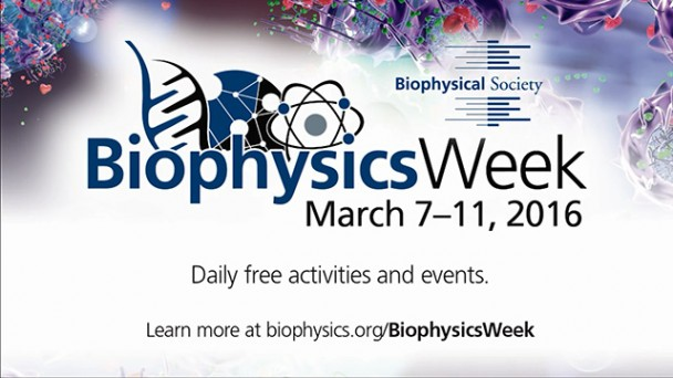 Looking forward to Biophysics Week